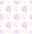 Seamless of thin lines as roses and buds vector image vector image