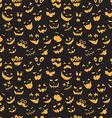 Seamless pattern Of Vintage Happy Halloween flat vector image vector image