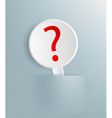 sign with a question mark vector image