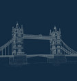 sketch tower bridge vector image