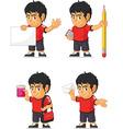soccer boy customizable mascot 9 vector image vector image