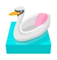 Swan children carousel cartoon icon vector image vector image