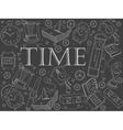 Time chalk vector image vector image