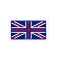 united kingdom flag linear style sign britain vector image