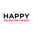 valentines day sale banner design happy vector image vector image