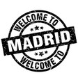 welcome to madrid black stamp vector image vector image