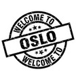 welcome to oslo black stamp vector image vector image