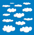 White clouds on summer blue sky background set vector image vector image