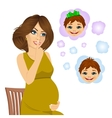 woman wondering about the gender of baby vector image vector image