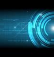 abstract blue circle digital technology vector image