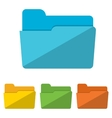 Collection of file folders icons vector image