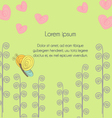 Floral background in Doodle style vector image