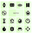 14 watch icons vector image vector image