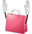 A pink bag vector image vector image