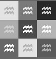 aquarius sign grayscale vector image vector image