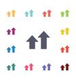 arrows up diagram flat icons set vector image vector image