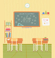 back to school nobody classroom study vector image