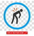 Backache Eps Rounded Icon vector image vector image