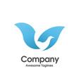 bird blue color logo vector image vector image