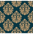 Bold heavy arabesque seamless pattern on blue vector image vector image