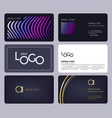 business cards template corporate identity vector image vector image