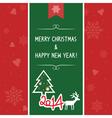 Christmas greeting card7 vector image
