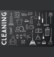 cleaning tools cleaning service vector image