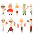 collection different cook chef child in a cook vector image vector image