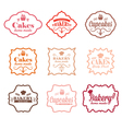 collection vintage retro bakery labels vector image