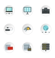 Computer icons set flat style vector image vector image