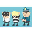 Concept business man who is friends with thieves vector image vector image