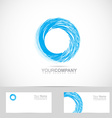 Corporate blue grunge circle logo vector image vector image