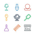 cosmetics icons vector image vector image