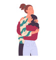couple of young people hugging each other tenderly vector image