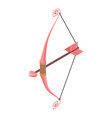 cupid bow weapon icon isometric style vector image