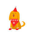 cute good dog symbol of the new year the dog in a vector image vector image