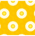 daisy yellow pattern on yellow background vector image vector image