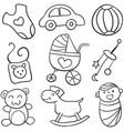 doodle of baby set