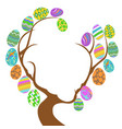 easter eggs tree with copy space vector image vector image