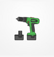 electric cordless drill image vector image