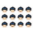 emoji set girls avatar collection vector image