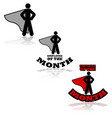 employee month vector image