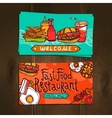 Fast Food Cards vector image