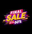 final special offers vector image vector image