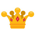 gold crown logo cartoon headdress king for the vector image vector image