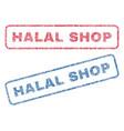 halal shop textile stamps vector image vector image