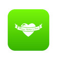 happy day icon green vector image
