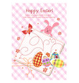 happy holiday easter day card vector image vector image