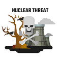 harm nuclear energy world is in danger vector image vector image
