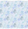Holiday pattern in blue tones vector image
